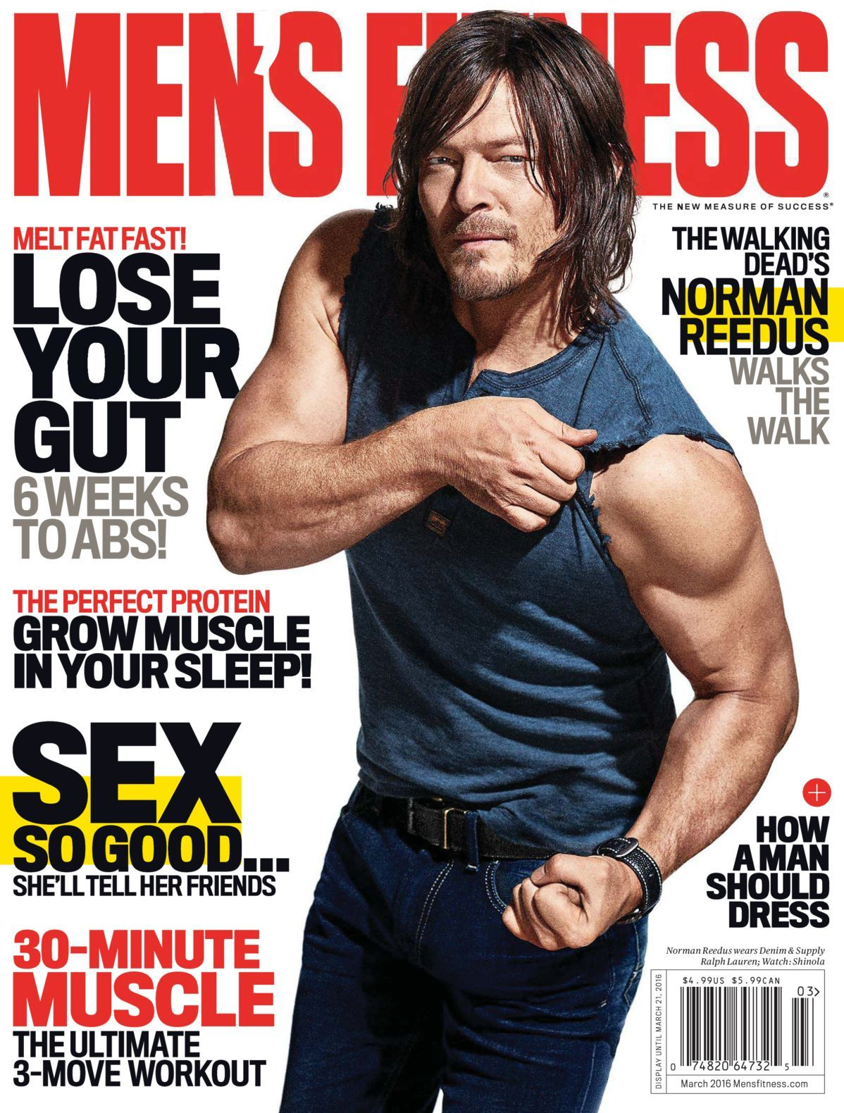 1a850ea68dc Free Download Men s Fitness (US)  Magazine - March 2016. Melt Fat Fast   Lose your gut 6 weeks to ABS!