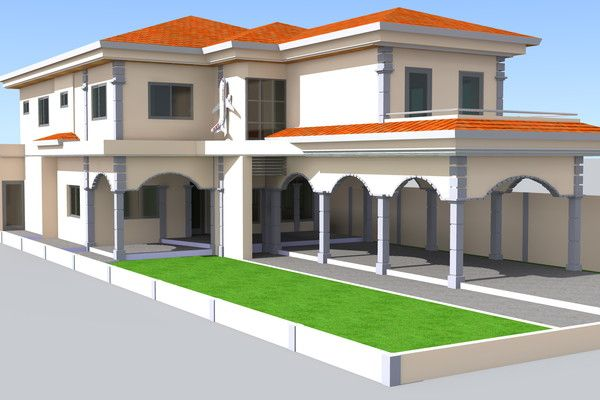 Villa Mk A Lome Togo En 2020 Maison Moderne Maison Villa
