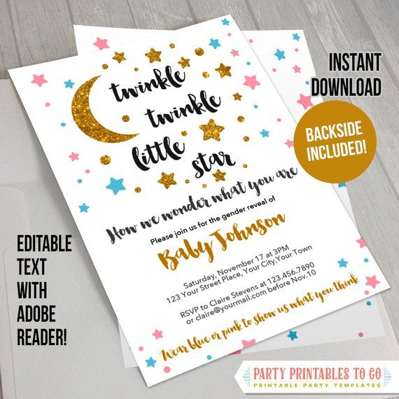 Le Little Star Baby Shower Invitation With Free