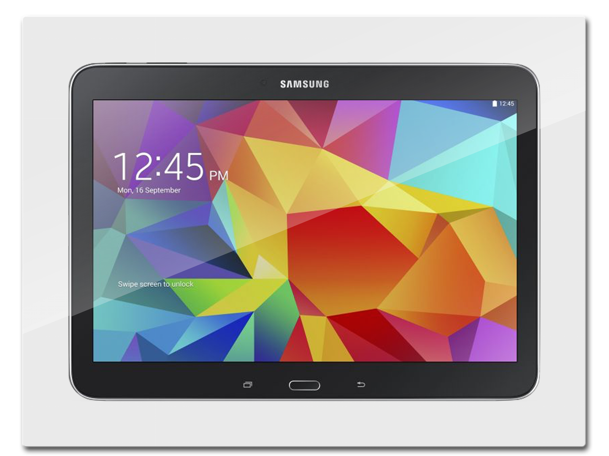 "The iWallDock™ patent pending design mounts your Samsung Galaxy Tab 4 10 1"" flush in the wall for convenient touchscreen control from anywhere in your home"