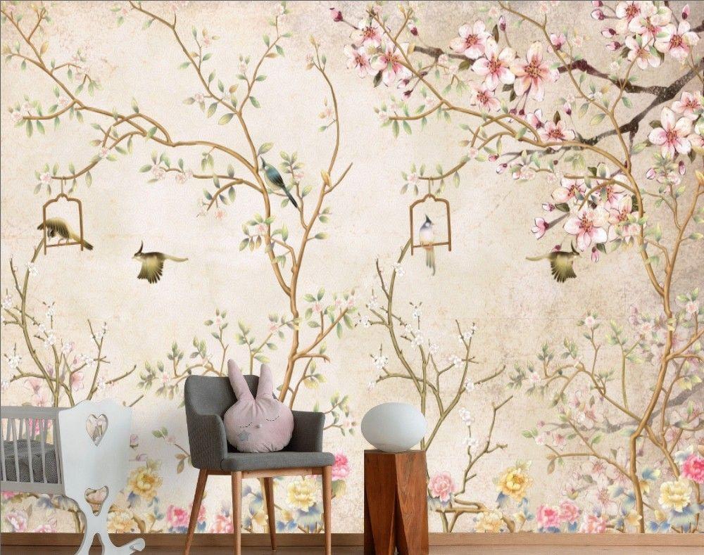 B Q Wallpaper Birds I Love This One Plant Wallpaper Feature Wall Wallpaper B Q Wallpaper