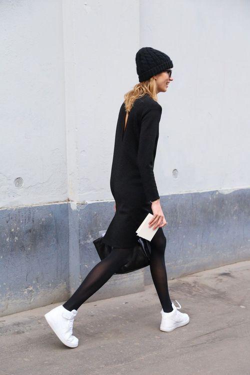 0ef3d1e4fec White Sneakers_Nike_Black White_White Shoes Modetrends, Damesmode, Witte  Gympen, Lederen Gympen, Witte Schoenen