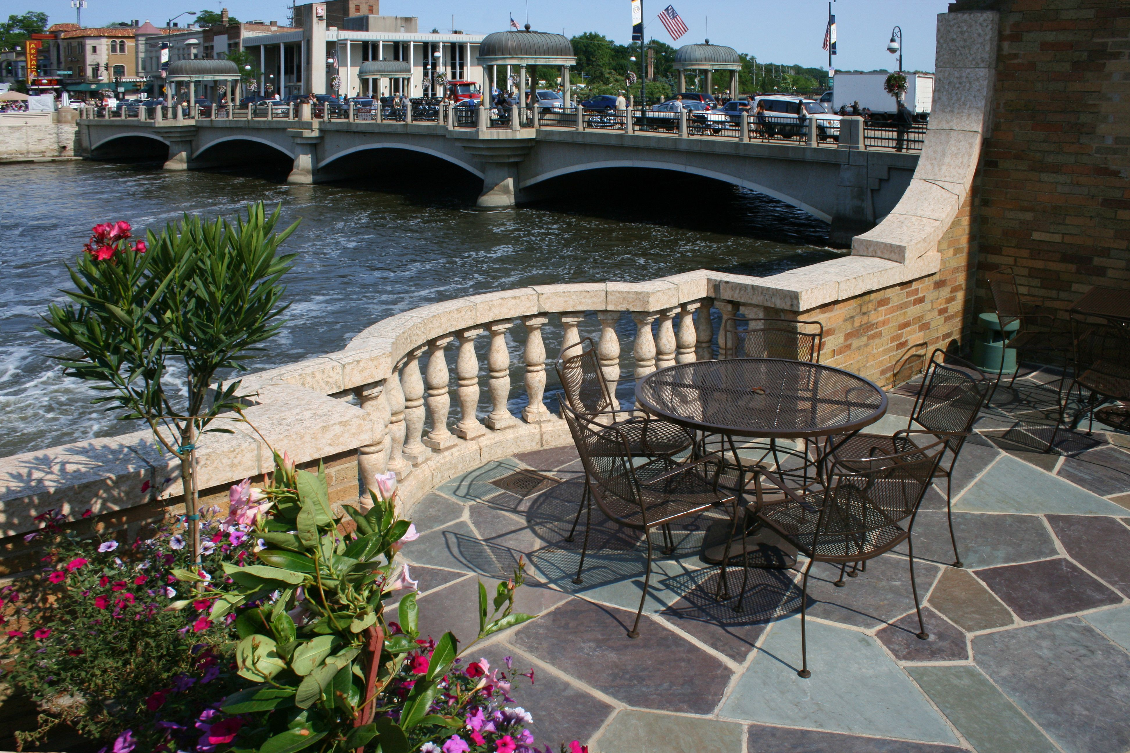 The Waterfront Patio - Hotel Baker - St. Charles, Illinois ...