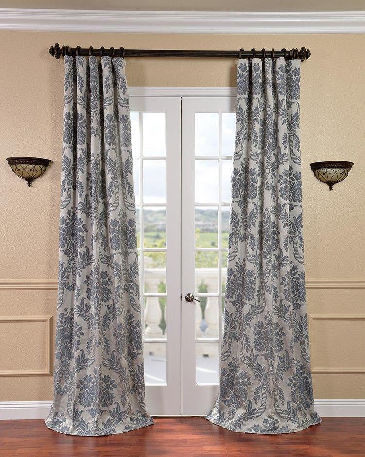 barock-gardinen-vorhange-silber-damast-muster-wohnzimmer ...