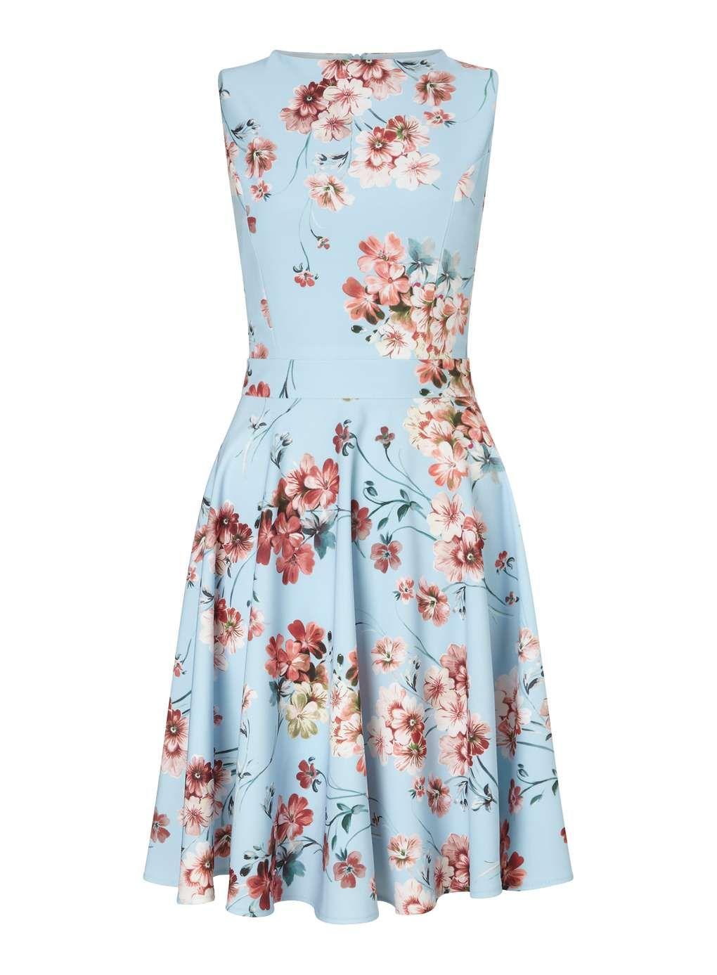 Skaterkleid mit Blumenprint - Kleider - Kleidung   Floral, Clothing ...