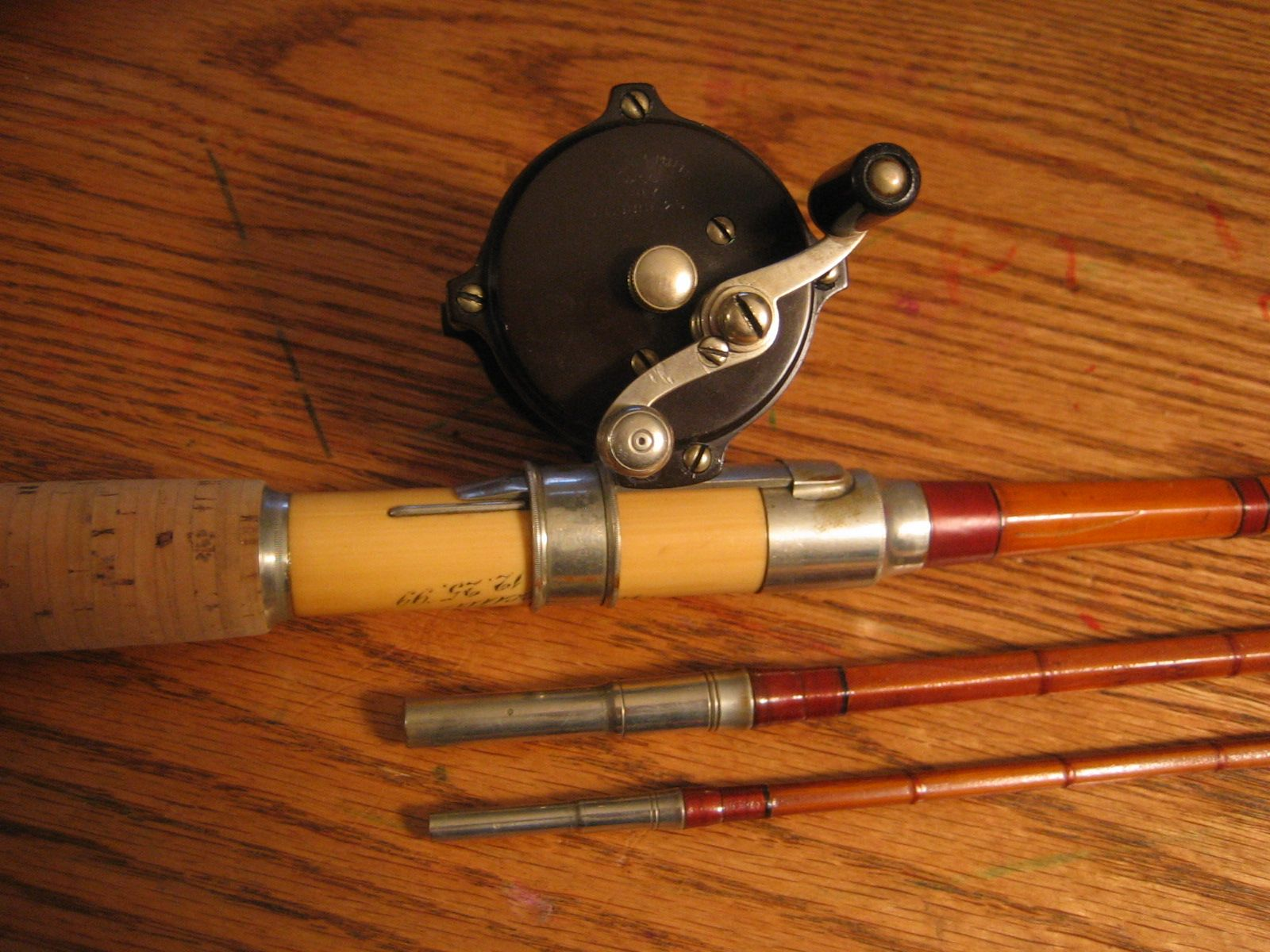 Kosmic Bamboo Rod W William Mills Hard Rubber Reel Fly