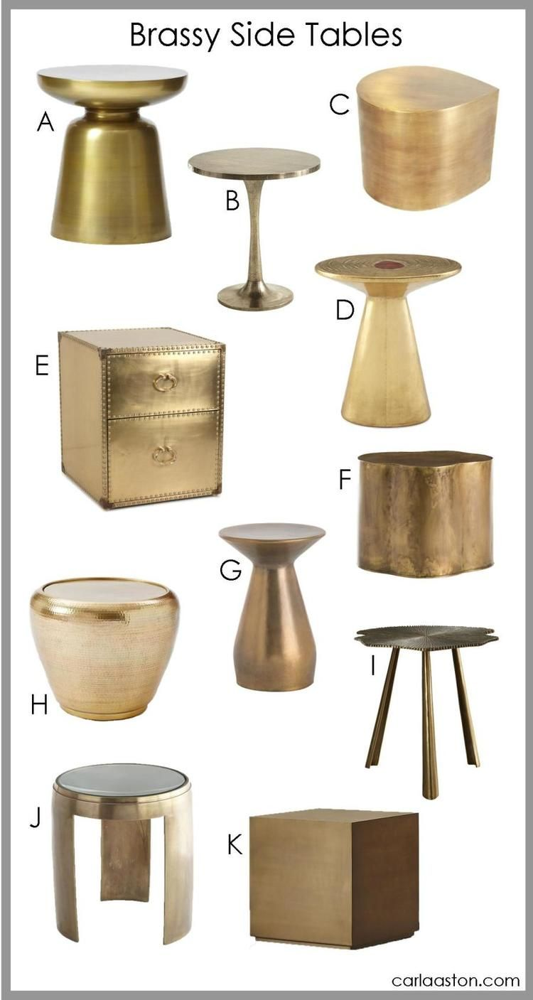no longer brass is back and these 11 brass tables are