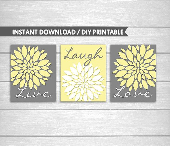 Dahlia Flower Burst Live Laugh Love Wall Art - Live Laugh Love Wall ...