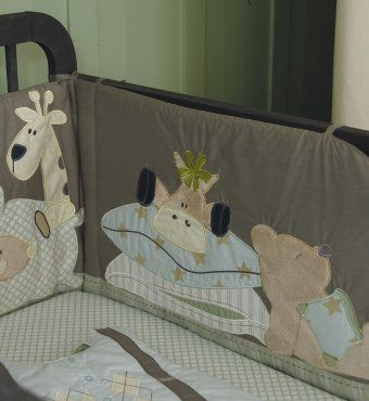 Tour de lit taupe motifs doudous animaux pour lit b b 60 x120 ou 70x140 cms exemple garder - Tour de lit bebe pour lit 70x140 ...