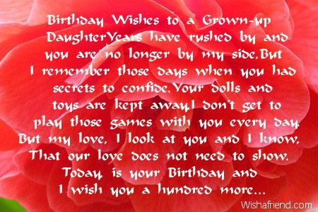 Daughter Birthday Quotes From Mother