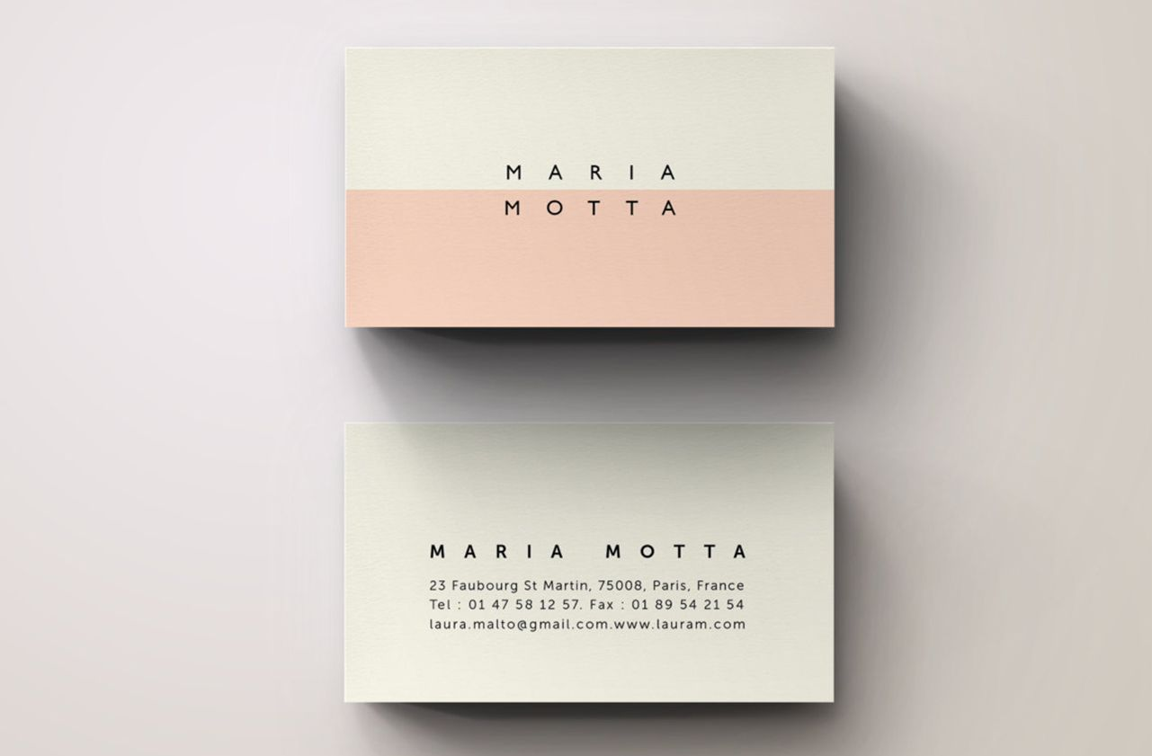 Pink Modern Business Card Template By Blank Studio On Creative