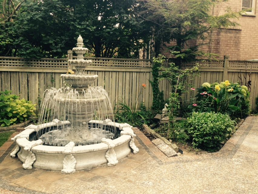 Large 3 Tier Leaf Fountain With Large Basin Fountains Outdoor Fountain Garden Fountains