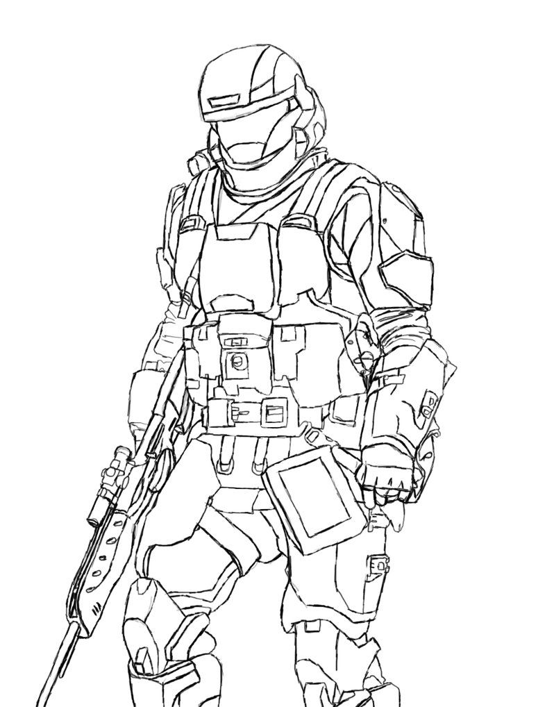 Halo Odst Coloring Pages Printable Coloring Pages