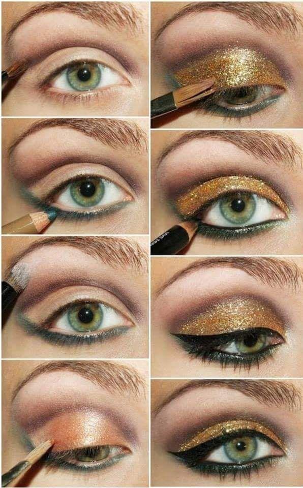 23 Amazing Golden Smokey Eye Makeup Tutorials for Eyes That Speak