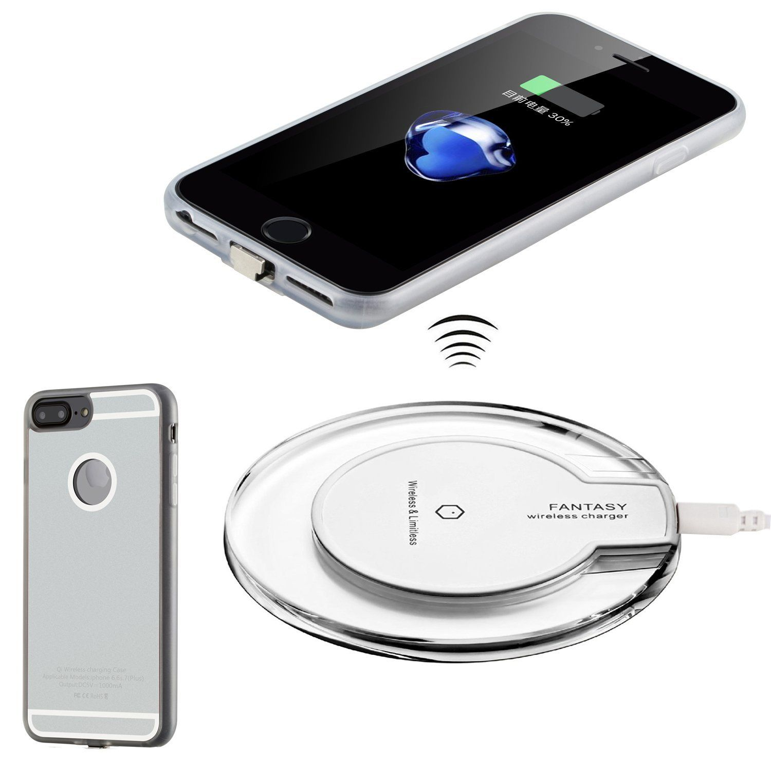 promo code 2f3c3 0c2e5 Antye Qi Wireless Charger Kit for iPhone 7, Including Wireless ...