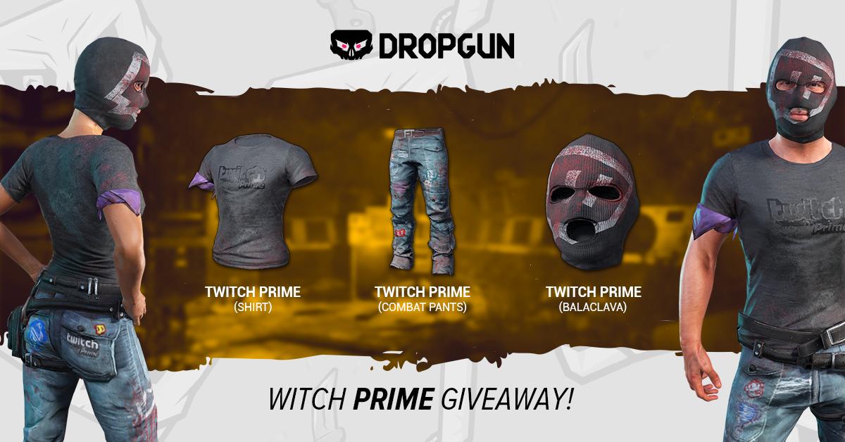 Twitch Prime SKINS on DROPGUN #giveaway #pubg #sorteo #sorteio | R