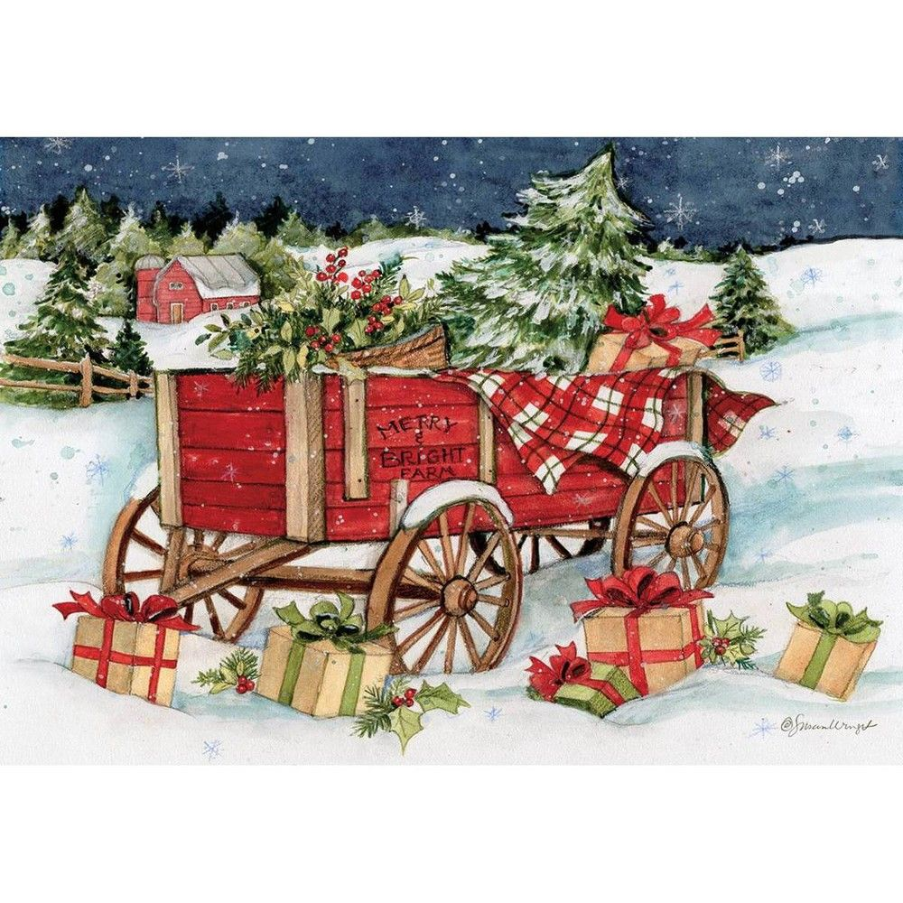 2020 Boxed Traditional Christmas Cards 12ct Snowy Delivery Boxed Christmas Cards in 2020 | Boxed