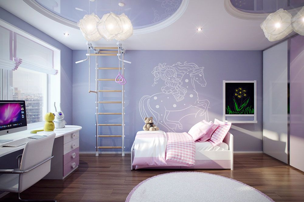 Girls Room Decorating Ideas Part - 15: Colorful Girls Rooms Decorating Ideas - 36 Pictures