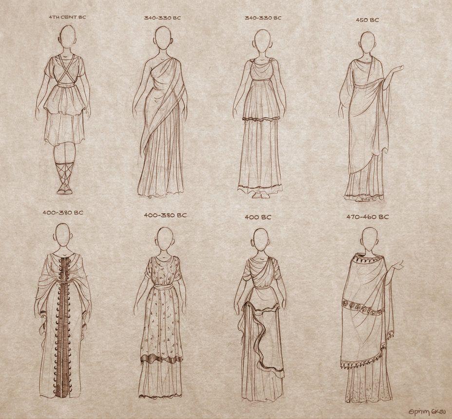 Ancient Greek dresses by Ninidu | Drawing | Pinterest ...