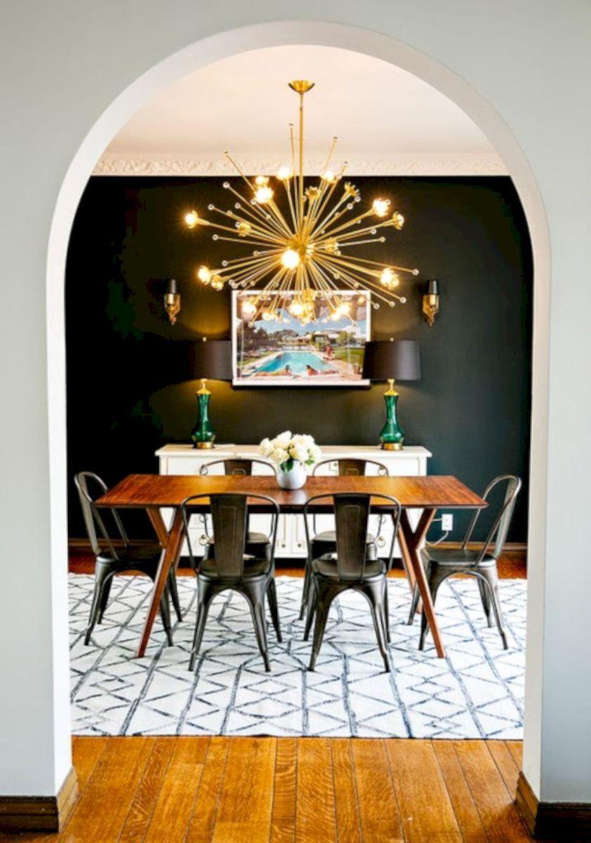 Esszimmer mit küche painted mid century modern furniture   interior design