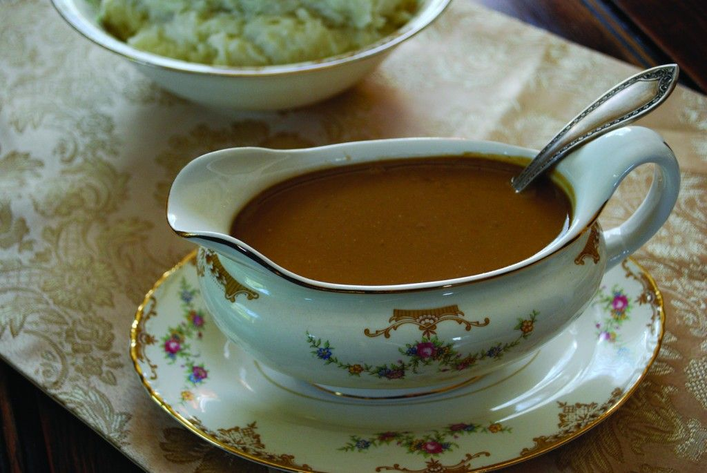 Top your turkey with this rich and creamy Traditional Turkey Gravy.