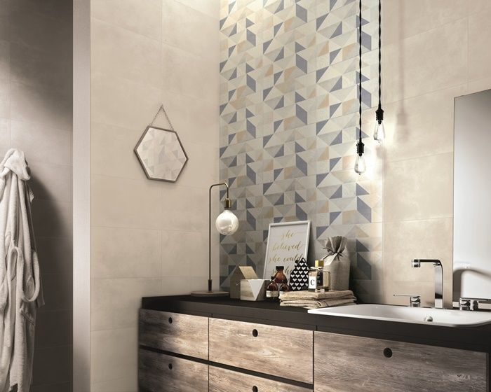 Piastrelle decorate per incorniciare la pareti del bagno? Idee da ...