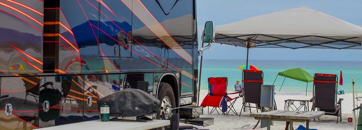 Destin Florida Rv Park Camp Gulf Travel Trailer Living Rv Parks Florida Rv