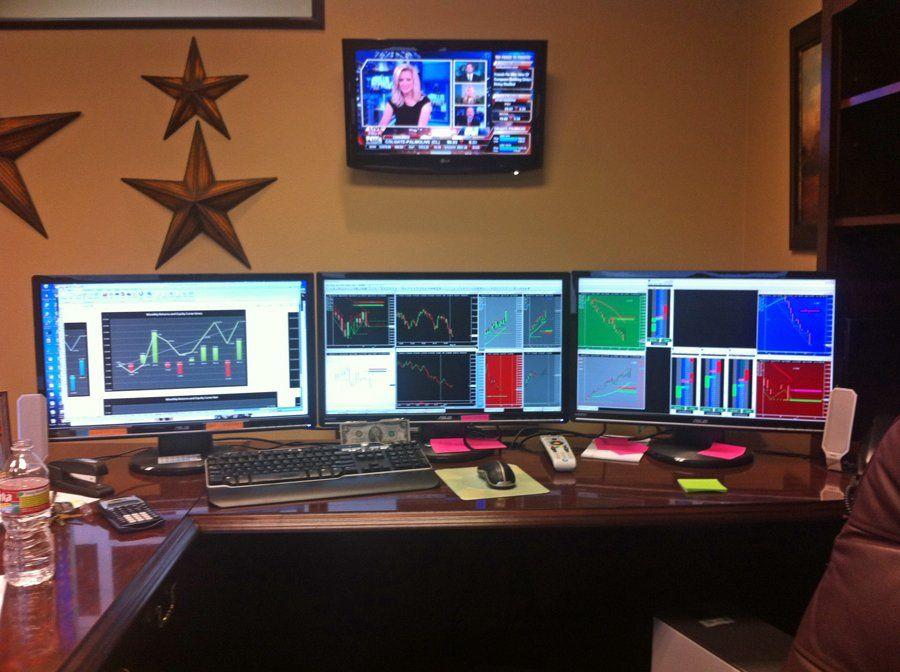 Trading Desk Setup Trading Desk Gaming Room Setup Computer Setup