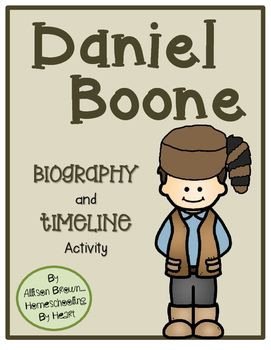 Daniel Boone Biography and Timeline Activity | Cut and paste ...