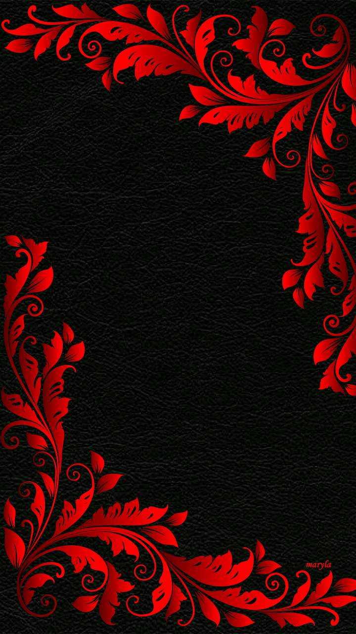 Download 720x1280 red black floral abstract cell phone for Black and red wallpaper designs