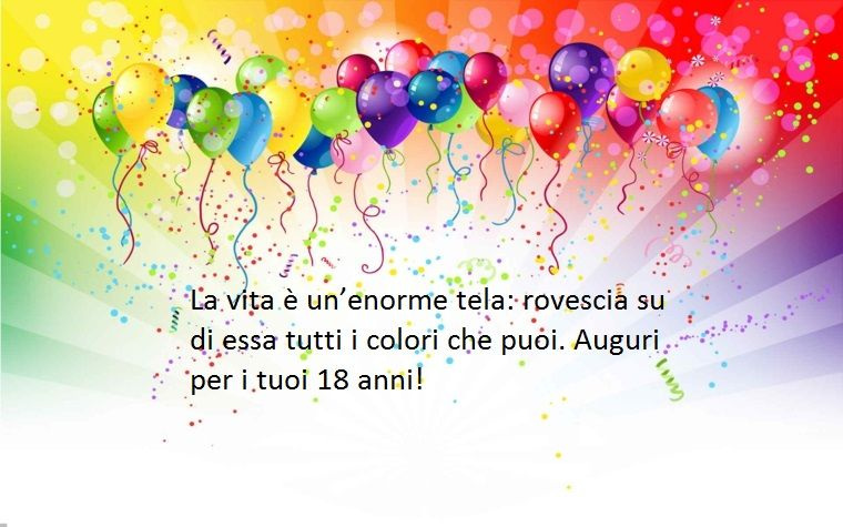 Proposta Per I Diciotto Anni Con Dediche Di Buon Compleanno Dove Si Esorta A Colorare La Vita Buon Compleanno Auguri Di Buon Compleanno Auguri Di Compleanno