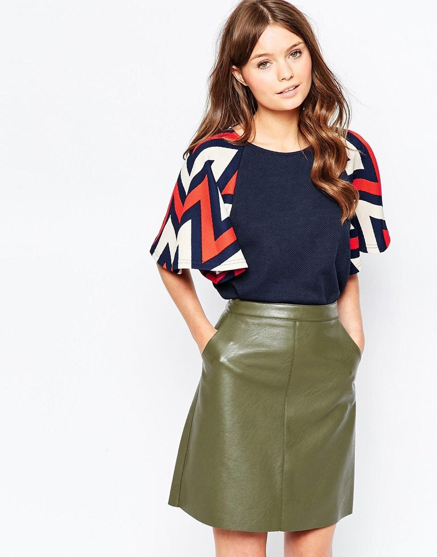 Traffic People Curious Chevron Butterfly Kiss Top | COUTURE ...