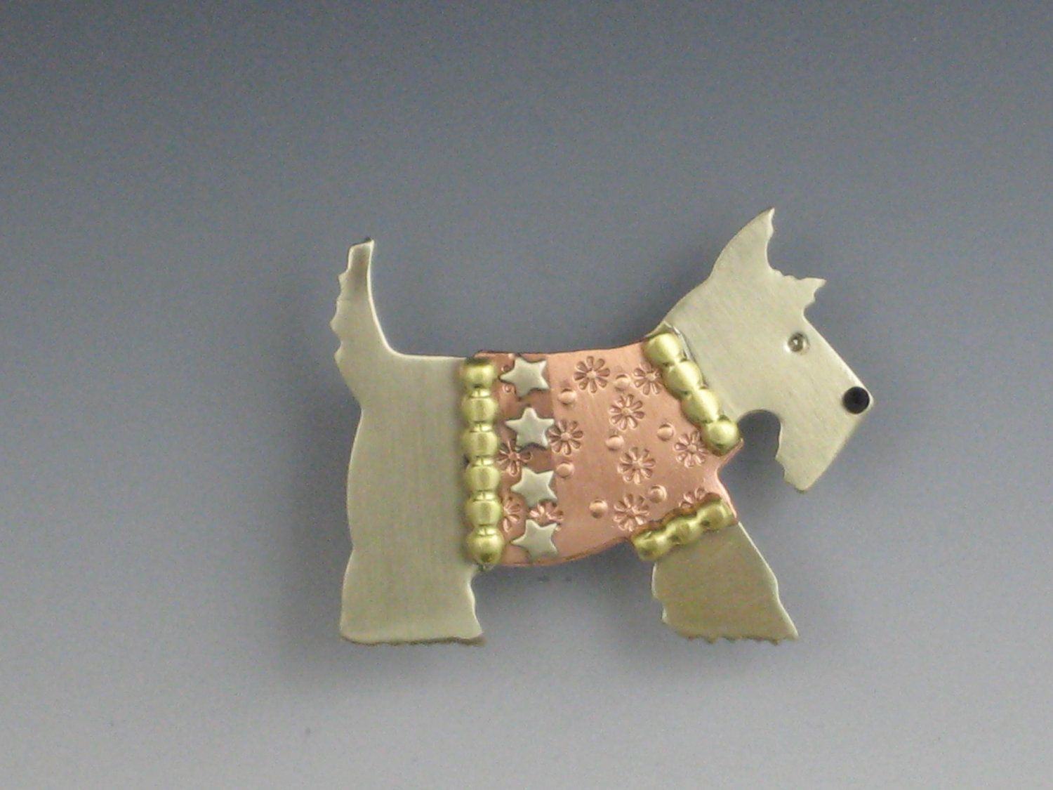 Scottie Dog with Sweater Pin.