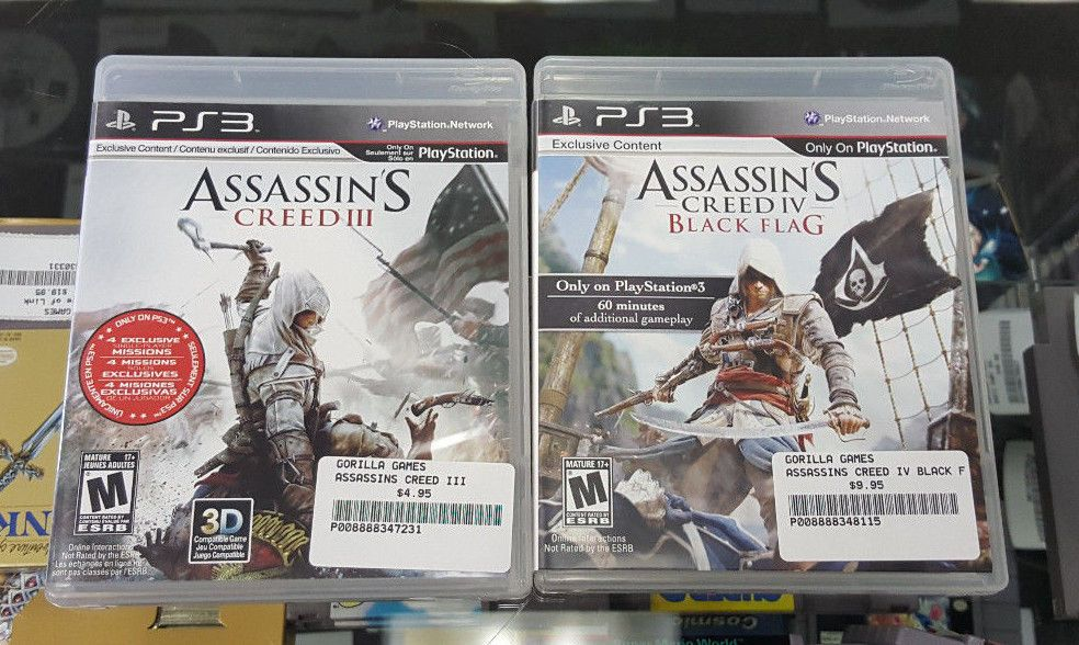Assassin S Creed Iv Black Flag Assassins Creed Iii Playstation
