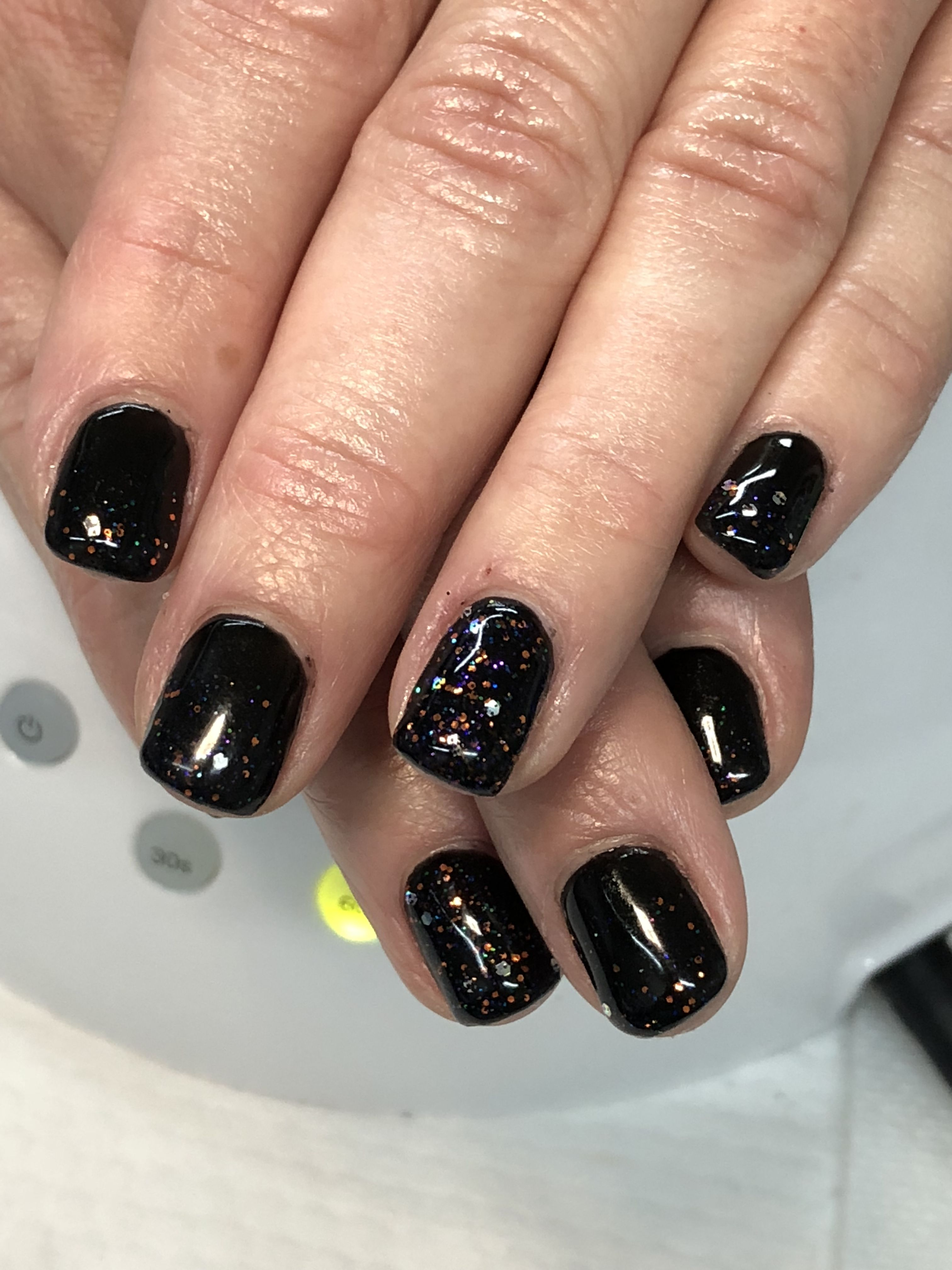 Black Halloween Fall Gel Nails Light Elegance Black Tie Black Magic Gel Nail Light Fall Gel Nails Nail Colors