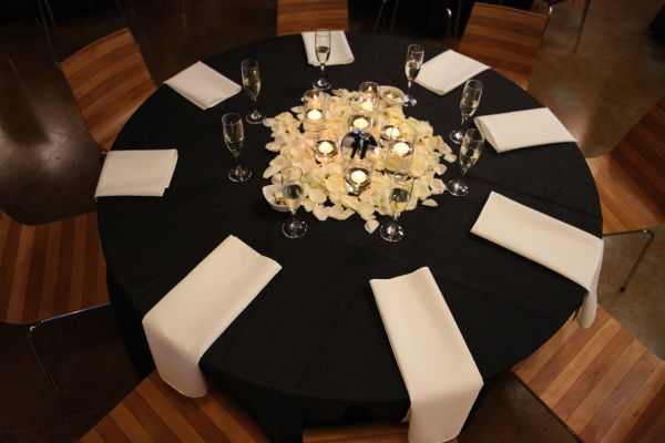 Timeless Ivory Gold Wedding With Scottish Traditions In: Table Centerpiece For Black, Ivory And Gold Wedding Rose