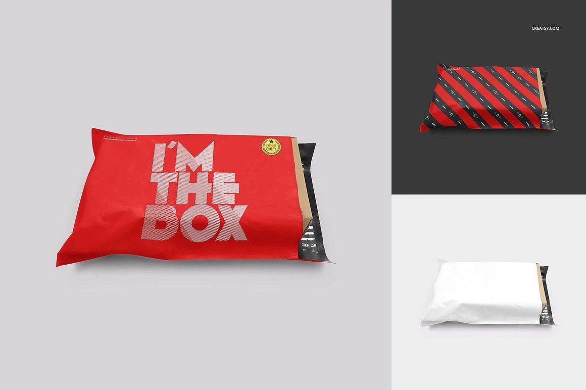 Download Mailing Bag Mockup Set Product Mockups Vintage Business Cards Bag Mockup Box Bag Packaging