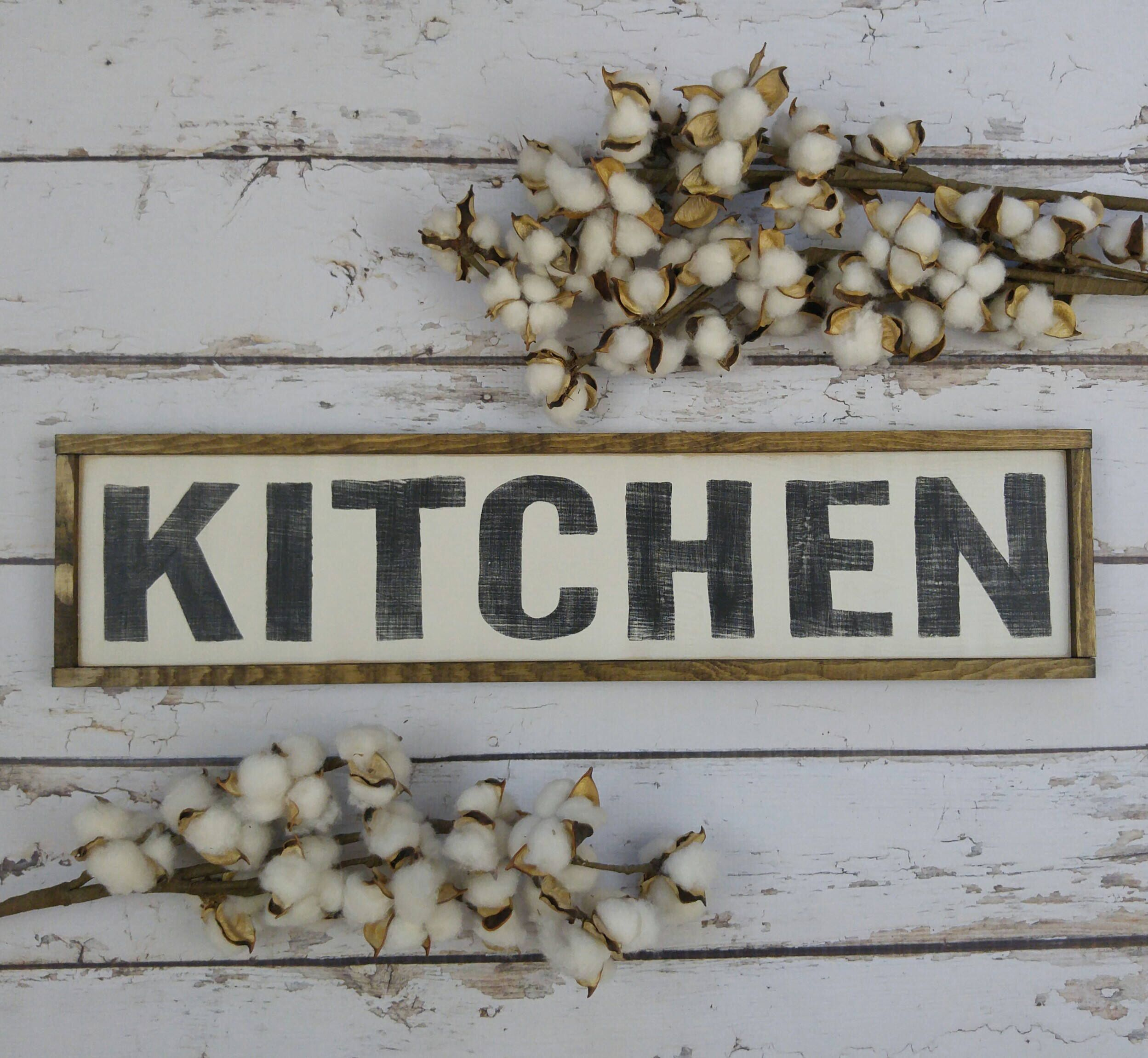 Distressed Wood Sign Rustic Kitchen Wall Decor by