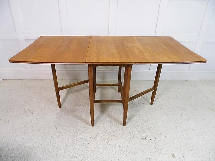 Vintage Antique Heals Son Oak Folding Drop Leaf Dining Table