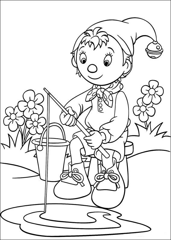 Noddy Coloring Pages 132 | Drawing | Pinterest | Colorear, Dibujo y ...