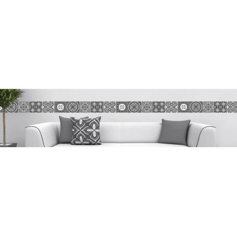 frise adh sive repositionnable carreaux de ciment frise. Black Bedroom Furniture Sets. Home Design Ideas