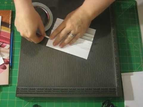 Kathy Orta's envelope mini album with a chipbord spine tutorial 1