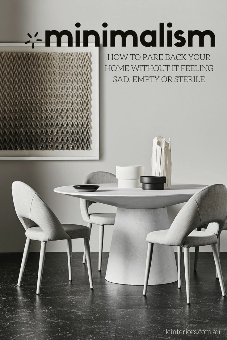45c04c5008 mimimal dining room with round concrete table and grey upholstered chairs  from globewest