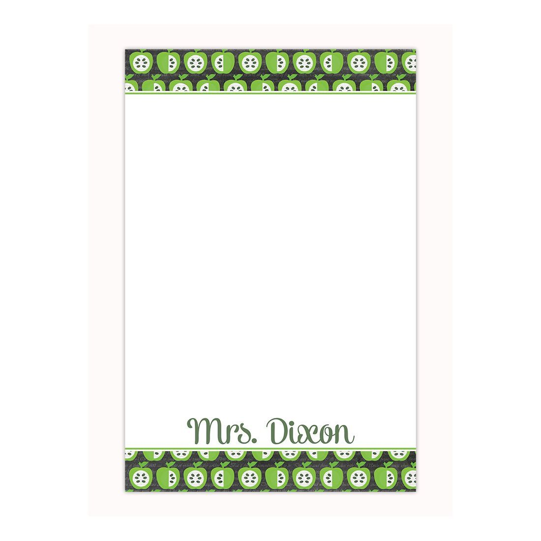 Personalized notepad in apple print, custom notepad, memo pad, office gift, gift for her, gifts under 20, coworker gift by PaperKStudios on Etsy