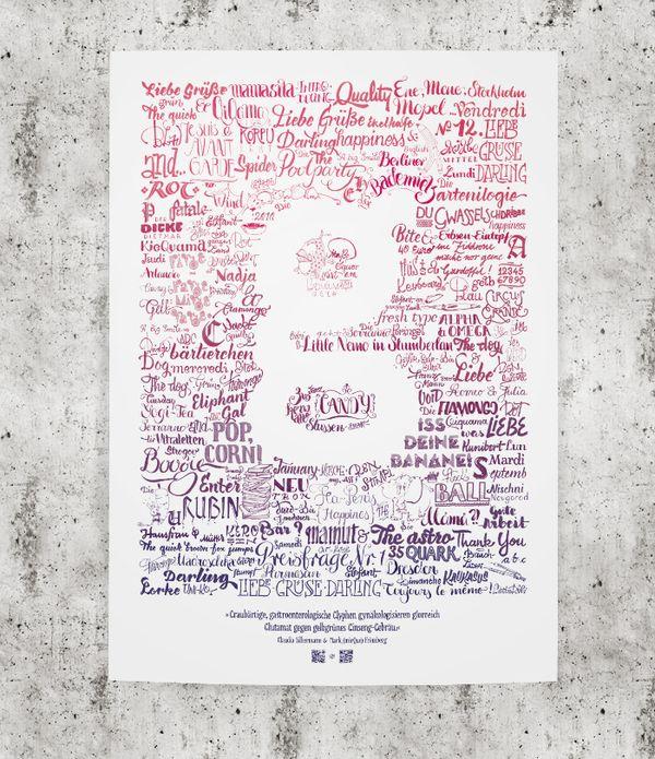 lettering poster by Mark Frömberg, via Behance