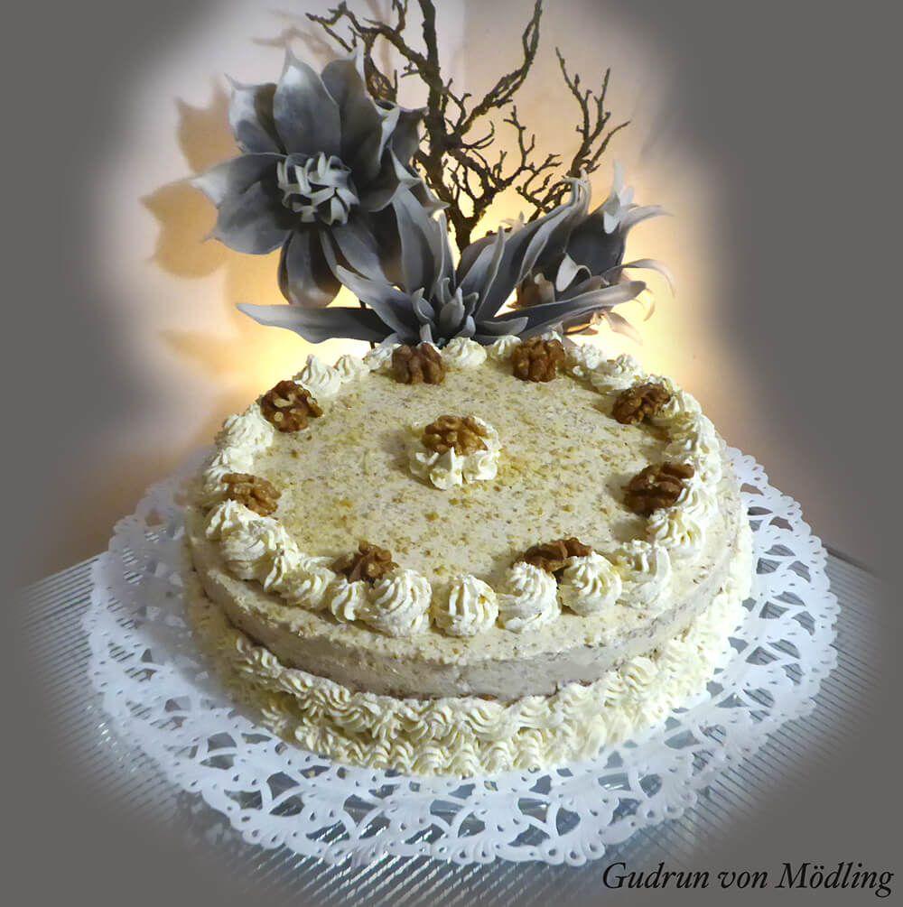 walnut cake  thermomix mit bildern  walnusstorte