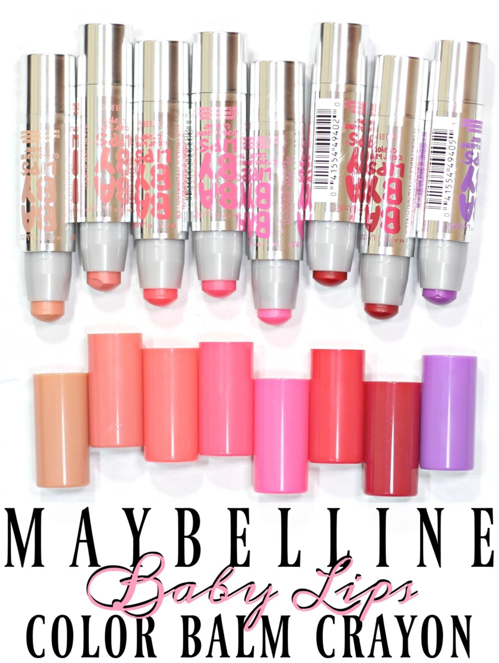 Maybelline Baby Lips Color Balm Crayon Swatches Review Giveaway