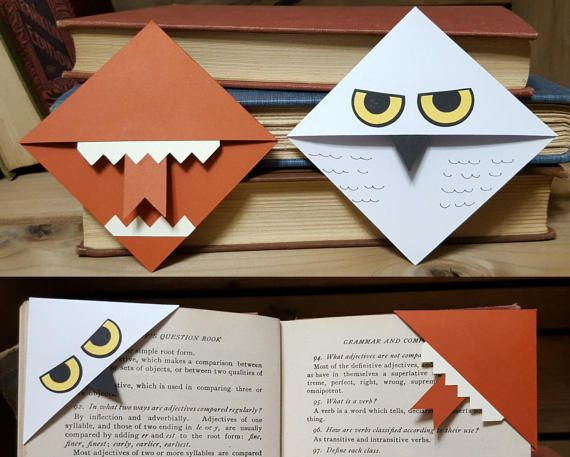 Harry Potter Inspired Corner Bookmarks Set Of By Theseedymerchant