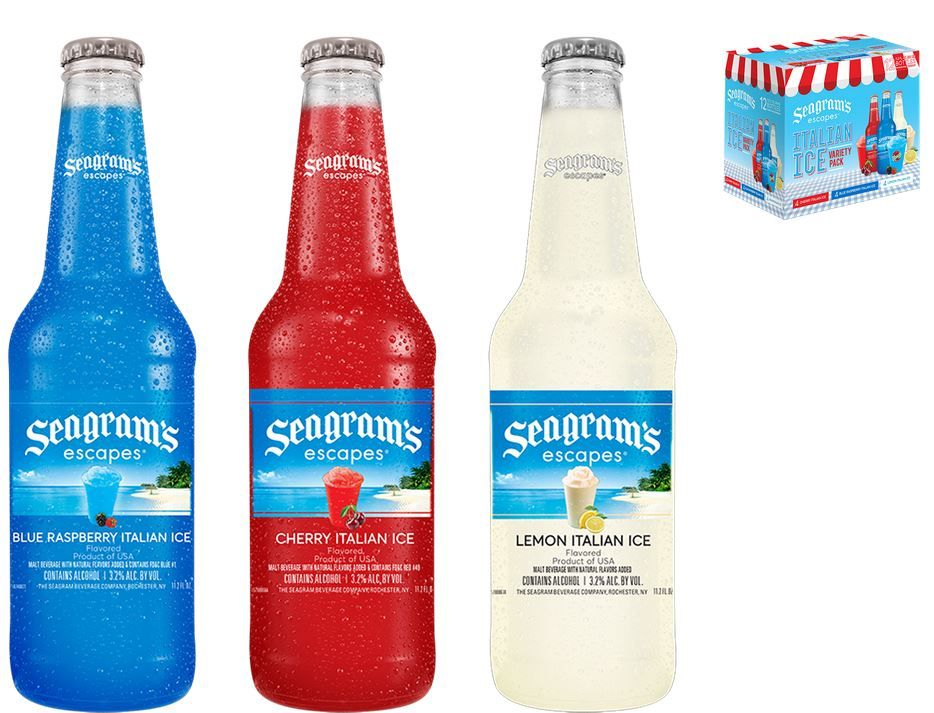 Seagram S Escapes Italian Ice Variety Pack In 2020 Blue Raspberry Italian Ice Italian Water