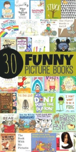 #Books #Funny #Funny Pictures for kids #Picture 30 Funny Picture Books        30 Funny Picture Books - here are lot of great books kids will love to read because they are funny, silly, and will make them laugh. Great book list, recommended reading, or for summer reading for toddler, preschool, kindergarten, first grade, 2nd grade, 3rd grade, and 4th grade kids.